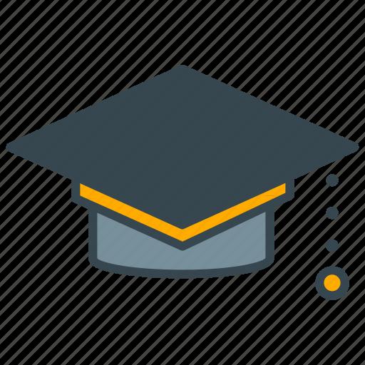 cap, education, graduate, graduation, science icon