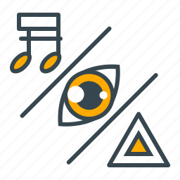 education, interest, music, science, sight icon