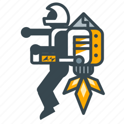 education, flight, invention, jetpack, science icon