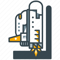 education, launch, science, ship, space, travel icon