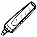 board marker, felt tip, highlighter, marker, office supply, sharpie icon