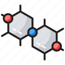 chemical bonding, chemical composition, chemical structure, chemistry, molecule chain icon