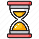 hourglass, metronome, sand clock, sandglass, timepiece, timer icon