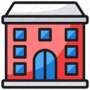 college, educational building, institute, school building, university icon