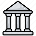 architecture, bank, bank building, construction, institute icon