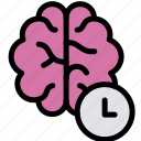 brain, education, smart, time icon