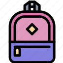 backpack, bag, education, rucksack icon