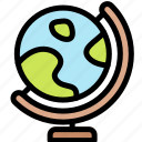 education, geography, globe, study icon