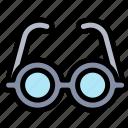 education, glasses, read, smart icon