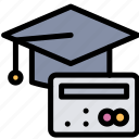 card, cost, credit, education icon