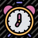 alarm, clock, education, schedule icon