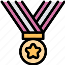 award, education, gold, medal icon