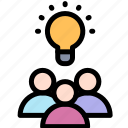 brainstorm, education, idea, teamwork icon