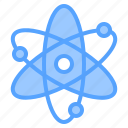 atom, book, learning, report, search, study, tool icon