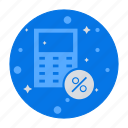 calculation, calculator, mathematics, maths, percentage icon