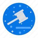 aution, court, hammer, judge, judgement, justice, law icon