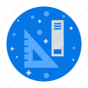 education, geometric scale, geometry, maths, rulers, tool icon