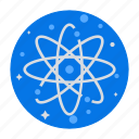 atom, chemistry, molecule, nucleus, physics, science icon