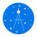compass, draw, education, geometry, maths, tool icon