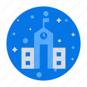 building, education, institute, office, school building, university icon
