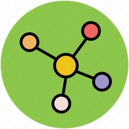 chain, compound, connection molecule, linkage, molecule icon
