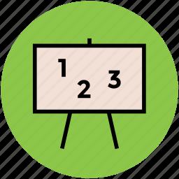 alphabets, blackboard, chalkboard, early learning, education, kindergarten, whiteboard icon