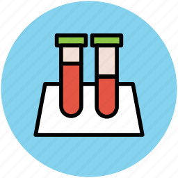 amperes tube, diode tube, test tube, testing tube, tube holder, volumetric flask icon
