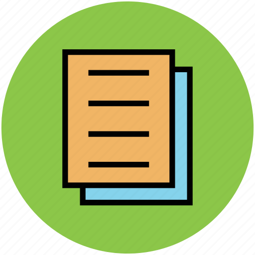 document, paper, write, writing paper icon