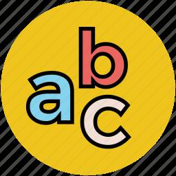 alphabets, basic education, blocks, early education, english icon