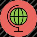 earth, global, globe, ground plan, table globe, world icon