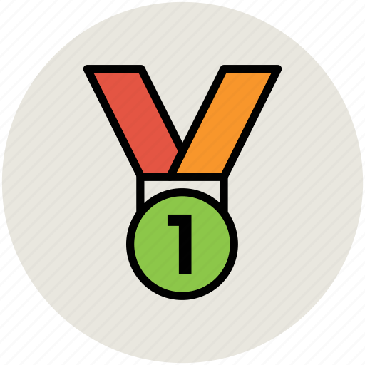 award, first position, medal, position medal, reward, winning medal icon