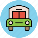 bus, charabanc, coach, motorbus, motorcoach, public transport, transport icon