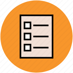 checklist, document, list, paper, sheet icon