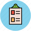 checklist, clipboard, clipboard list, list, prescriptions icon