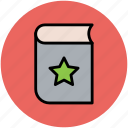book star, favorite book, like, star book icon