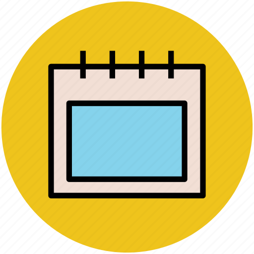 calendar, chart, daybook, diary, notebook, wall calendar icon