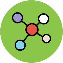 chain, compound, connection, linkage, molecule icon