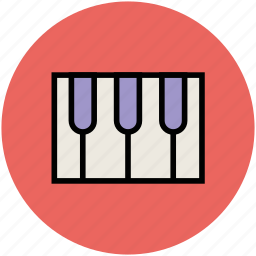 music, musical instrument, piano, piano keyboard, piano keys icon