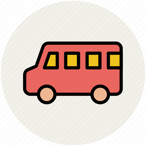 bus, mini bus, transport, van, vehicle, wagon icon