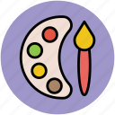 artist, paint palette, paintbrush, painting, paints icon