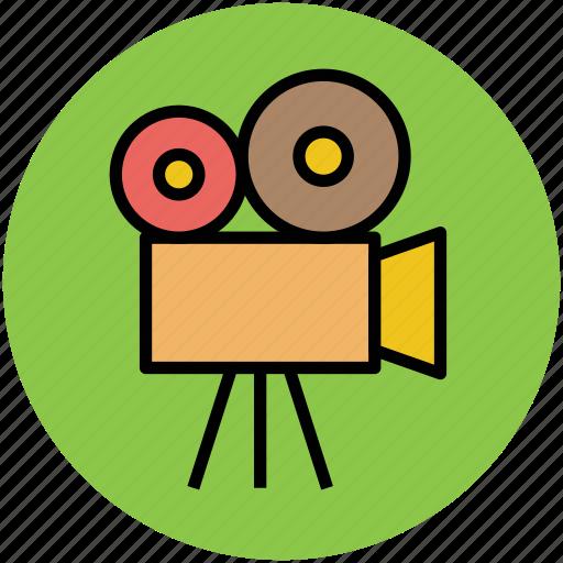 camera, film camera, shooting cam, video camera, video recording icon