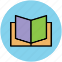 book, education, knowledge, novel, open book, reading, studying icon