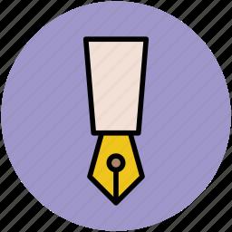 felt-tip, fountain pen, ink pen, nib, pen, pen tip icon