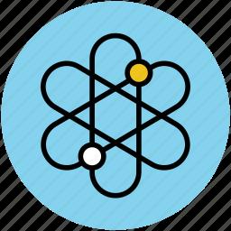 atom, atomic nucleus, education, electrons, physics atom icon