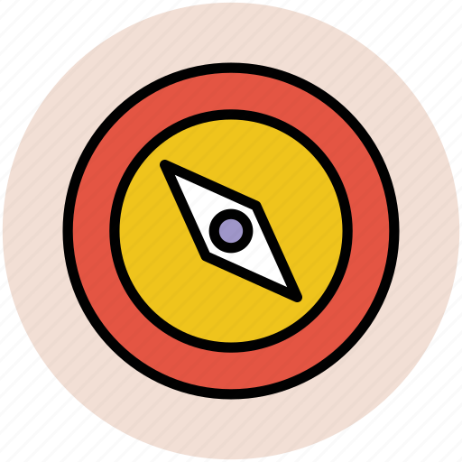 cardinal points, compass, gps, navigation, navigator icon