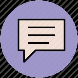 chat bubble, chatting, conversation, speech balloon, speech bubble, talking icon