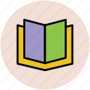 book, education, knowledge, novel, open book, reading icon