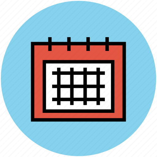 calendar, daybook, schedule, wall calendar, yearbook icon