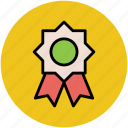 award badge, badge, crest, emblem, insignia, ribbon badge icon