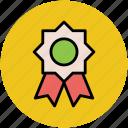 award badge, badge, crest, emblem, insignia, ribbon badge icon